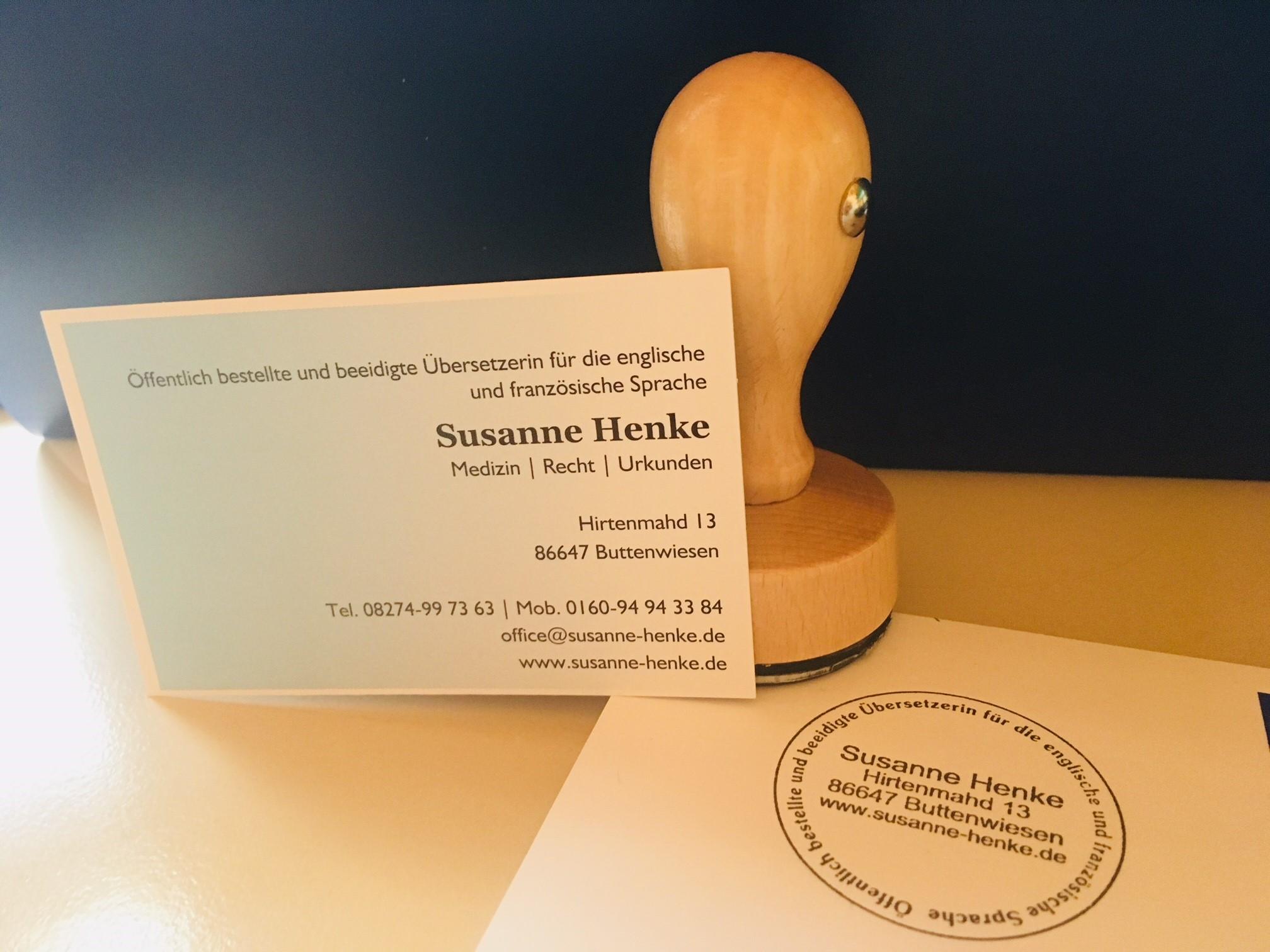 Ausführliches Profil Susanne Henke übersetzungen Medizin