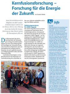 Artikel in derZeitschrift BayernInfo des BDÜ Bayern (Ausgabe 1/2018)